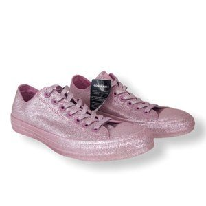 CONVERSE All Star Pink Glitter Low Top Sneakers